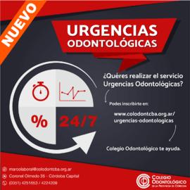 Urgencias Odontológicas - Inscribite en www.colodontcba.org.ar/urgencias-odontologicas/