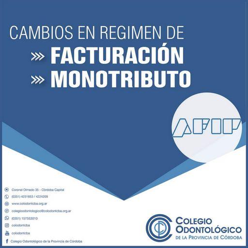 Cambios en el regimen de facturación y monotributo de AFIP